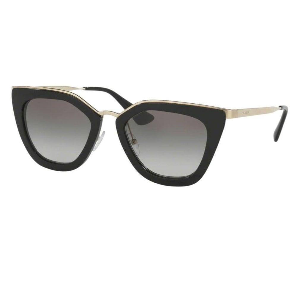 7d2168bceb10 0PR53SS 1AB0A7 52 Catwalk Black and Gold Ladies Sunglasses