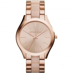 Michael Kors Watches MK4294 Slim Runway Rose Gold Tone Stainless Steel Ladies Watch