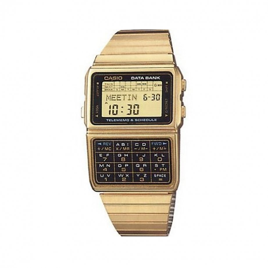 Digital Watch Gold