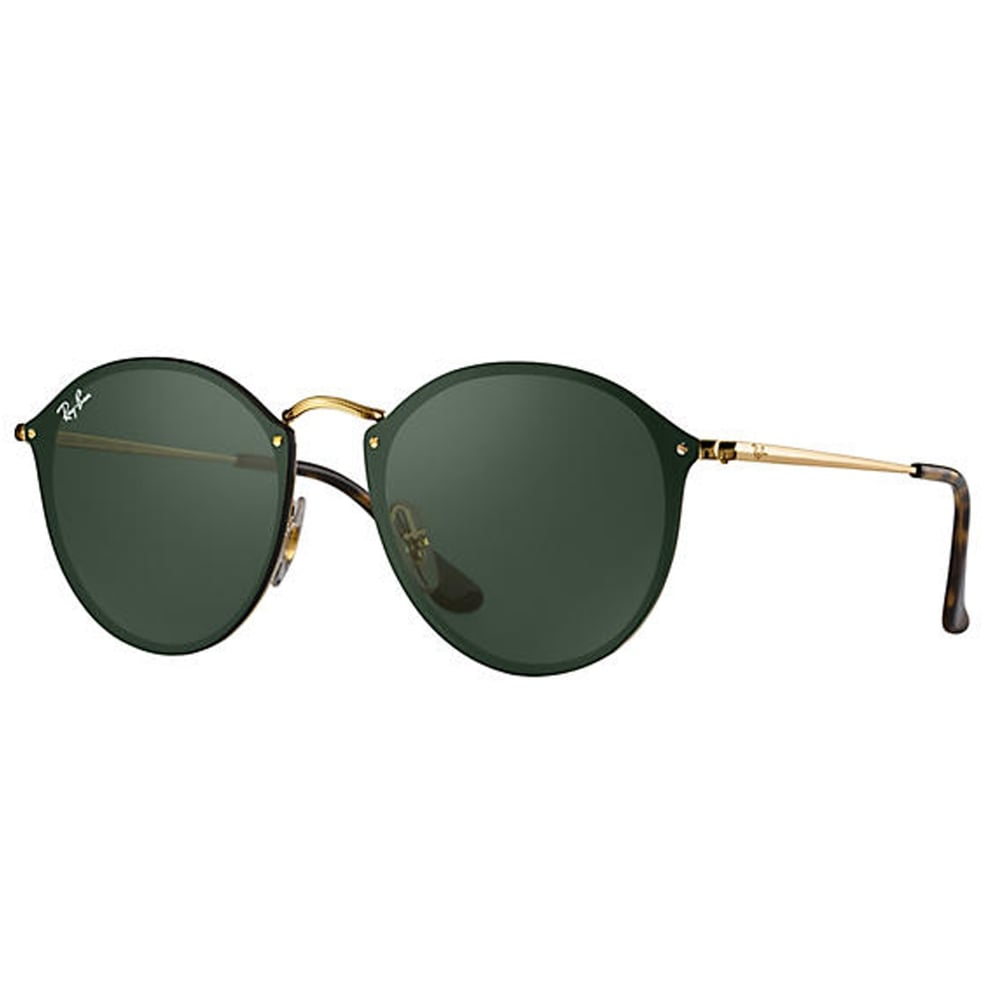 0RB3574N 001 71 59 Blaze Round Gold And Green Unisex Sunglasses 6d91e3610f