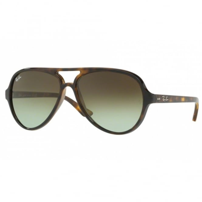 Ray Ban Sunglasses Cats 0RB4125 710/A6 59 Green Gradient Tortoise Sunglasses