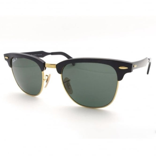 Ray Ban Sunglasses Clubmaster 0RB3057 136/N5 51 Aluminium Polarized Sunglasses