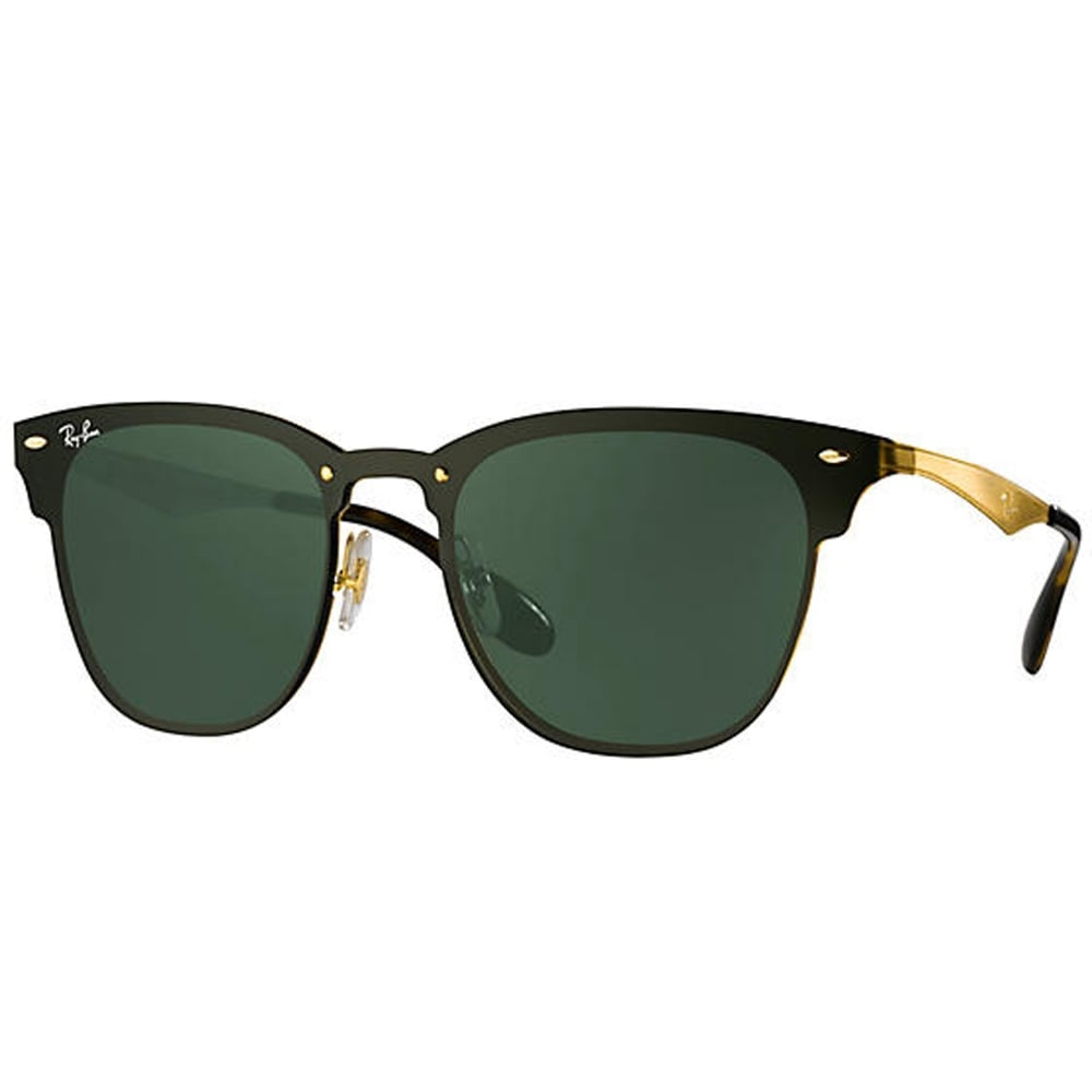 163d6de002899 ORB3576N 043 71 47 Gold And Green Blaze Clubmaster Unisex Sunglasses