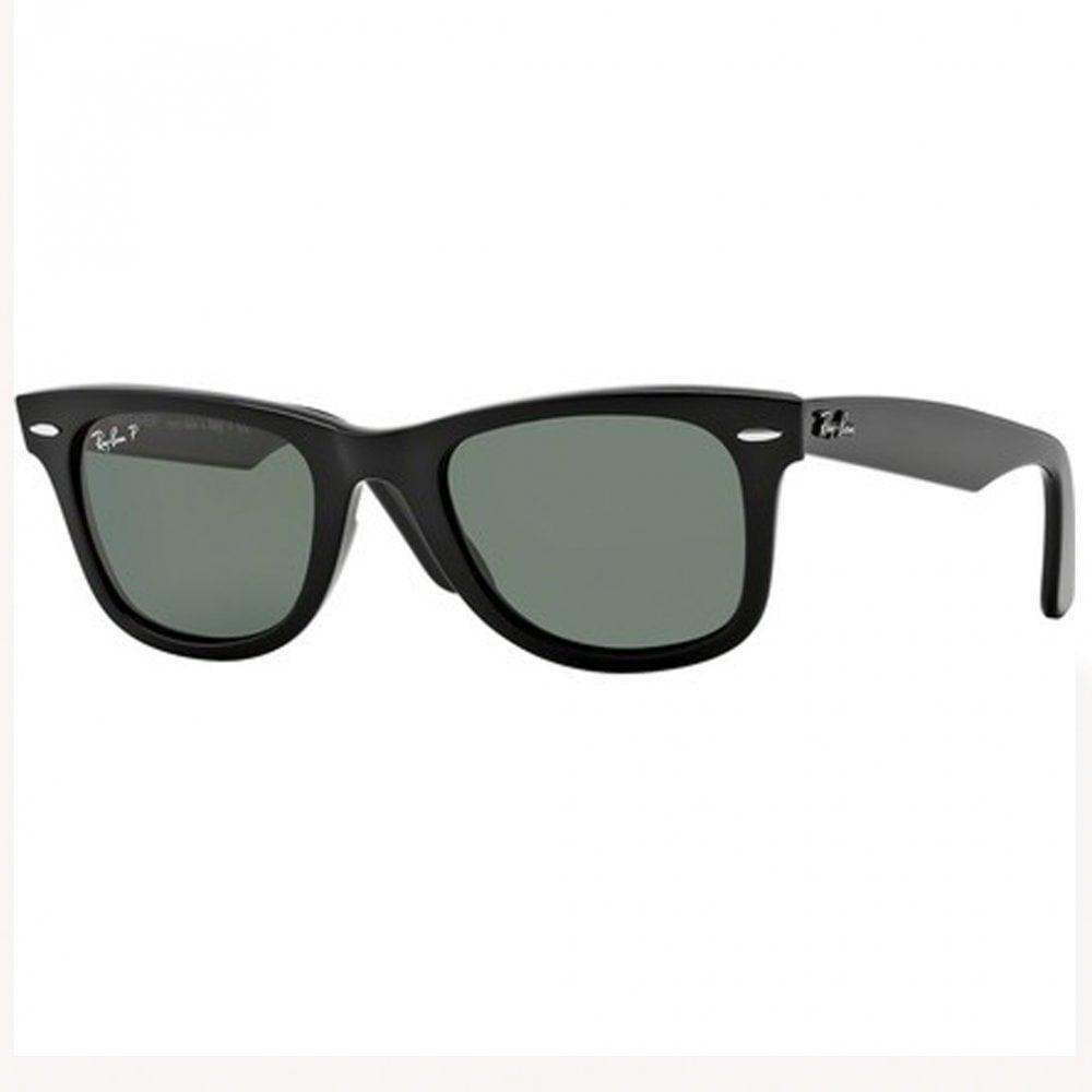 Wayfarer ORB2140 901 58 54 Black and Green Polarized Sunglasses 21ec90f9e941