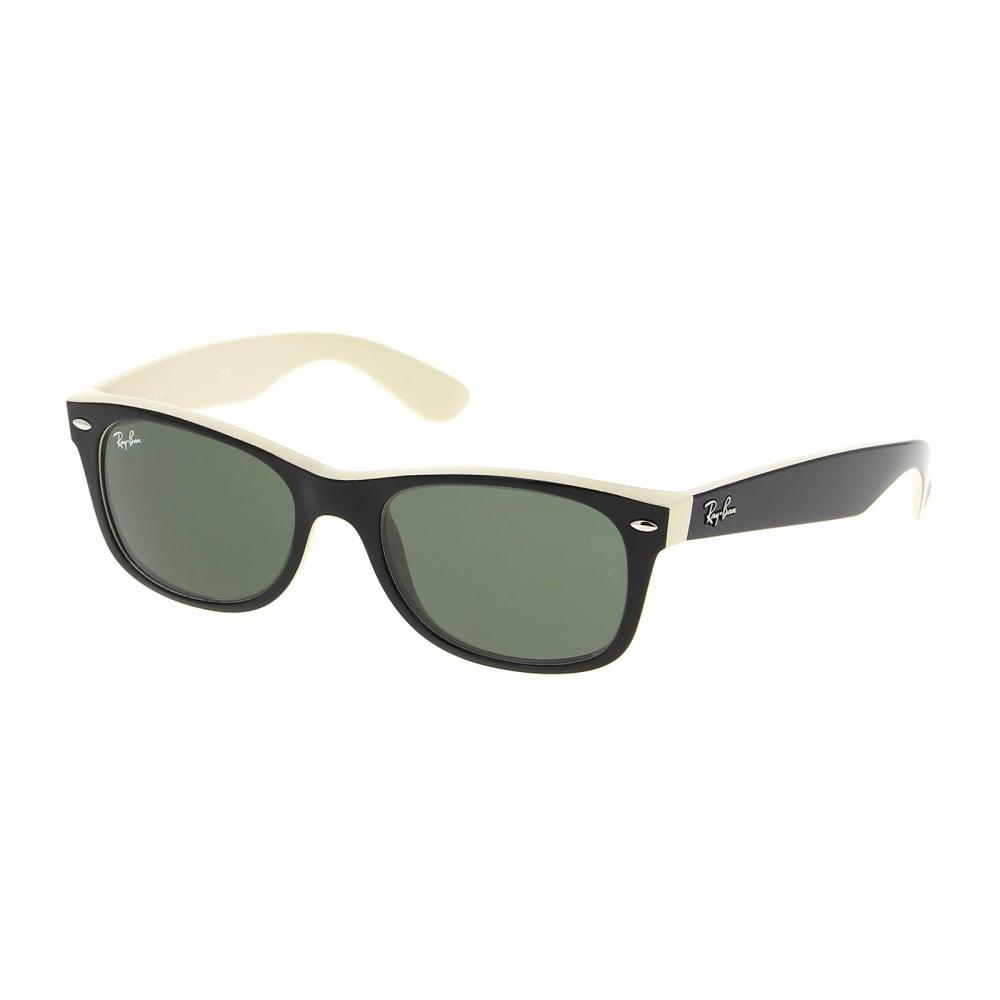 086c57e15d6 Wayfarer RB2132 875 52 Black and Cream two tone Sunglasses