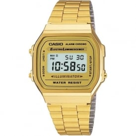 Casio Watches A168WG-9EF Retro Casio Alarm Chrono Watch