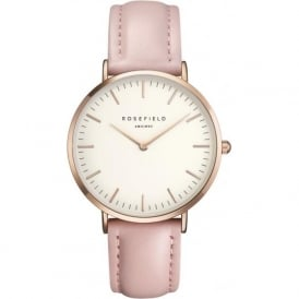 Rosefield B-W-PR-B7 The Bowery Rose Gold & Pink Leather Ladies Watch