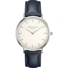 Rosefield BWBUS-B15 Bowery Silver & Blue Leather Ladies Watch