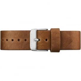 Rosefield CC-BR-SI Clean Cut Silver & Brown Women's Watch Strap