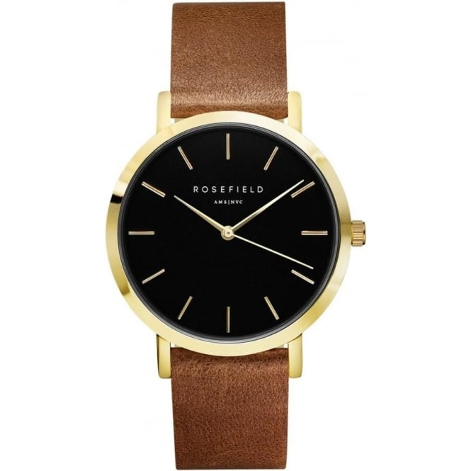 Rosefield GBBRG-G37 Gramercy Black & Brown Leather Women's Watch