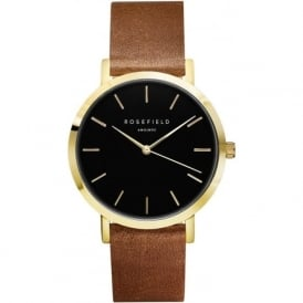 GBBRG-G37 Gramercy Black & Brown Leather Women's Watch