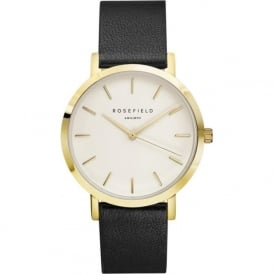 Rosefield G-W-BL-GO Gramercy Black Leather Women's Watch