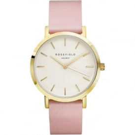 Rosefield BWPR-B7 Gramercy Gold & Pink Leather Women's Watch
