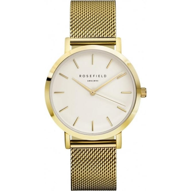 Rosefield MWG-M41 Mercer Gold Mesh Women's Watch