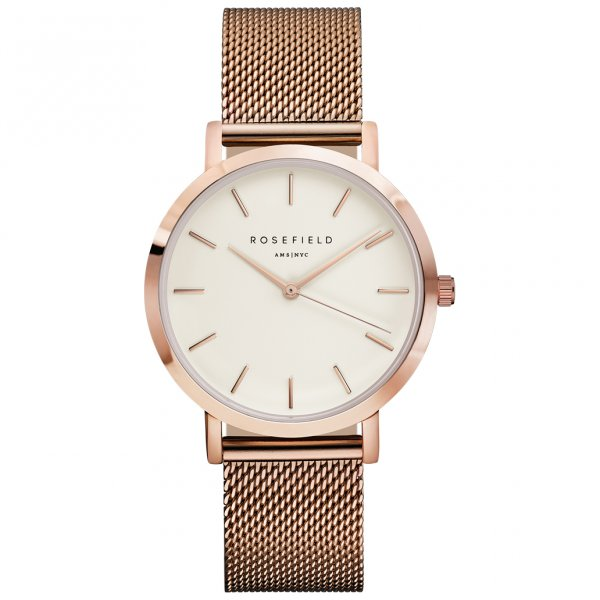 Mwr m42 rosefield the mercer rose gold ladies watch for The mercer