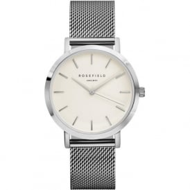 Rosefield MWS-M40 Mercer Silver Mesh Women's Watch