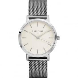 Rosefield M-W-SI Mercer Silver Mesh Women's Watch