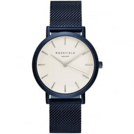 Rosefield M-W-BL Mercer Blue Mesh Women's Watch