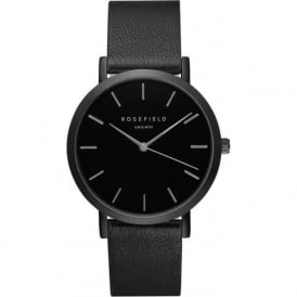 Rosefield GBBB-G38 Gramercy Black Leather Women's Watch