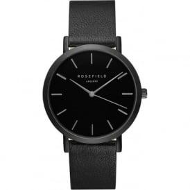 Rosefield N-BL-BL Nolita Black Leather Women's Watch