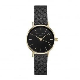 26BBG-262 The Small Edit Gold & Black Leather Ladies Watch