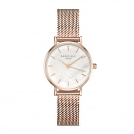 26WR-265 The Small Edit Rose Gold Mesh Ladies Watch