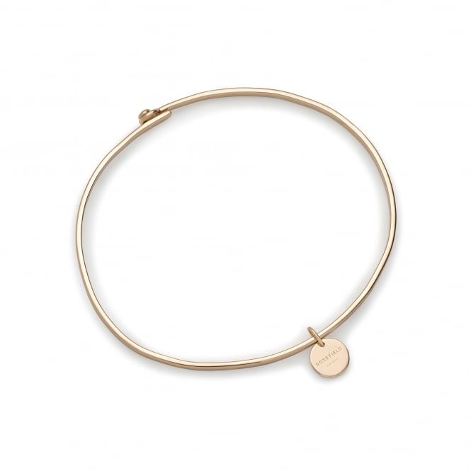 Rosefield JWOGS-J013 Wooster Gold Sterling Silver Small Bangle Bracelet