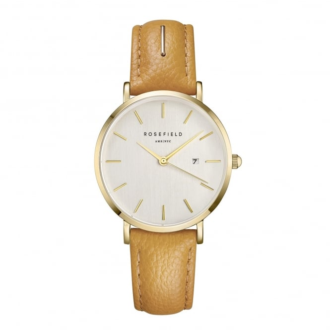 Rosefield SIFE-I80 The September Issue Fashion Editor Gold & Yellow Leather Ladies Watch