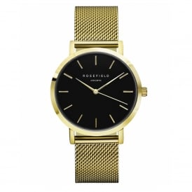 MBG-M46 The Mercer Black Dial and Gold Mesh Ladies Watch