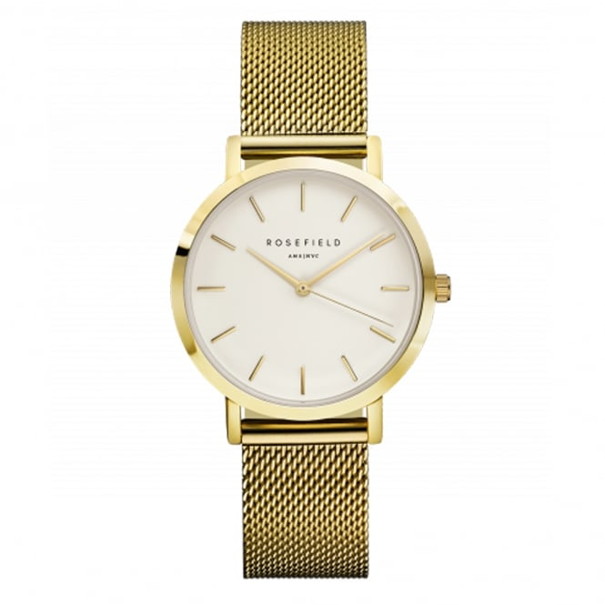 Rosefield TWG-T51 The Tribeca Gold Mesh Ladies Watch