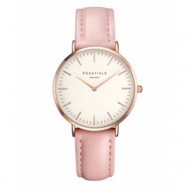 Rosefield TWPR-T58 The Tribeca Rose Gold & Pink Leather Ladies Watch