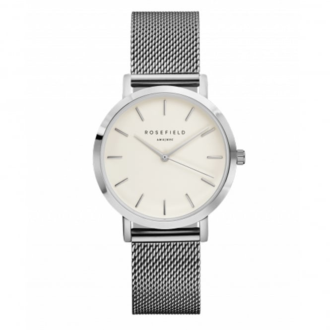Rosefield TWS-T52 The Tribeca Silver Mesh Ladies Watch