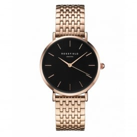 UEBR-U23 The Upper East Side Black & Rose Gold Stainless Steel Ladies Watch