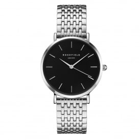 UEBS-U25 The Upper East Side Black & Silver Stainless Steel Ladies Watch