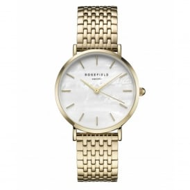 UEWG-U21 The Upper East Side White Pearl & Gold Stainless Steel Ladies Watch