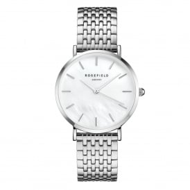 UEWS-U22 The Upper East Side White Pearl & Silver Stainless Steel Ladies Watch