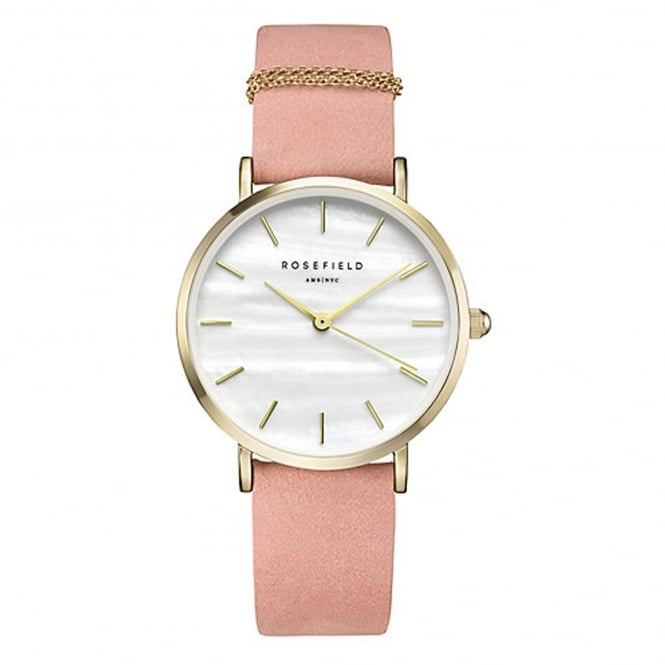 Rosefield WBPG-W72 The West Village Gold & Pink Leather Ladies Watch