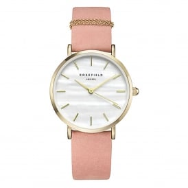 WBPG-W72 The West Village Gold & Pink Leather Ladies Watch