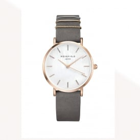 WEGR-W75 The West Village Rose Gold & Elephant Grey Leather Ladies Watch