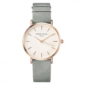 Rosefield WMGR-W74 The West Village Rose Gold & Mint Grey Leather Ladies Watch