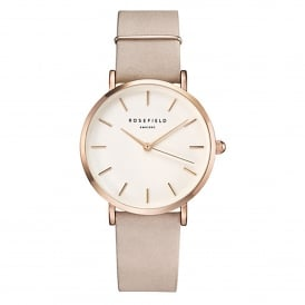 Rosefield WSPR-W73 The West Village Rose Gold & Soft Pink Leather Ladies Watch