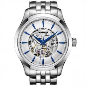 GB05032/06 Mechcanique Skeleton Stainless Steel Men's Watch