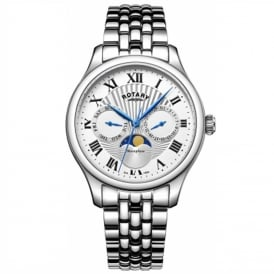 GB05065/01 Moonphase Men's Silver Watch