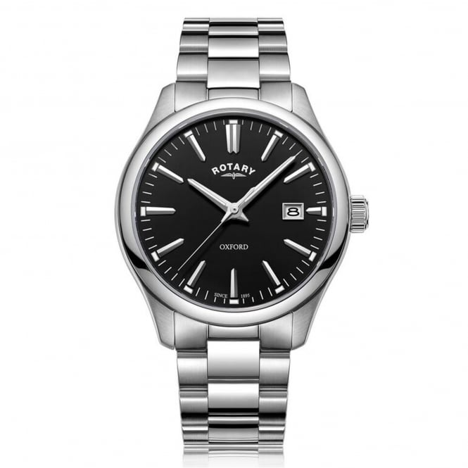 Rotary GB05092/04 Oxford Black & Silver Stainless Steel Men's Watch