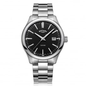 GB05092/04 Oxford Black & Silver Stainless Steel Men's Watch