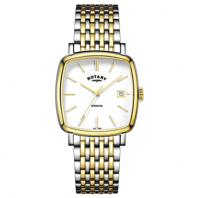 Rotary GB05306/01 Windsor Men's Gold & Silver Watch