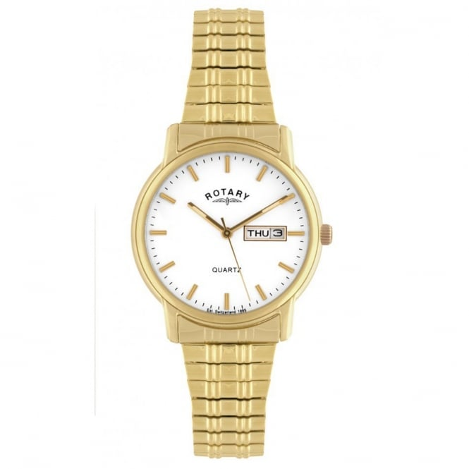 Rotary GBI02764/08 Classic Men's Expandable Bracelet Gold Watch
