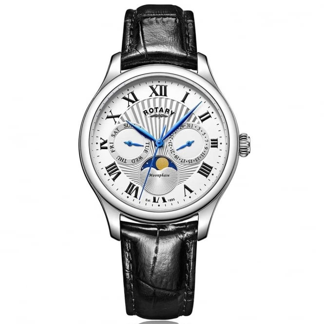 Rotary GS05065/01 Moonphase Men's Leather Watch