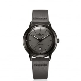 GS05345/20 Avenger Black & Grey Leather Men's Watch