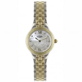 LB02761/41 Ladies Silver & Gold Stainless Steel Watch